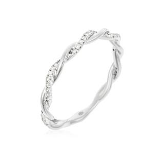 Alliance Or Blanc et Diamants 0,06 carat ENTORTILLEMENT