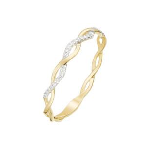 Alliance Or Jaune et Diamants 0,06 carat ENTORTILLEMENT