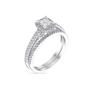 Duo Solitaire Alliance Or Blanc et Diamants 0,52 carat BRILLANT DUO