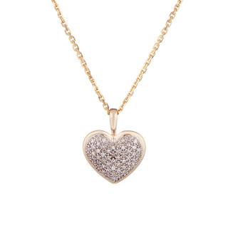 Pendentif Cœur Or et Diamants
